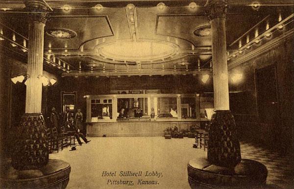 Hotel Stilwell Lobby 701 N Broadway Postmarked 1910